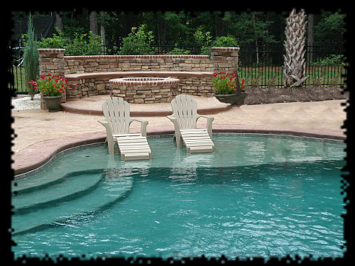 Turn your pool into paradise with custom features for Custom swimming pools