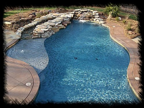 custom swimming pool with lagoon5 - Lagoon Swimming Pool Designs