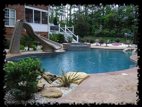 Swimming pool designs in raleigh 10 years experience for Custom inground swimming pools