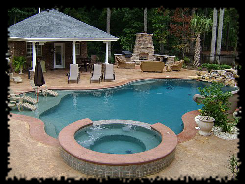 Custom concrete spas aquatic creations inc for Swimming pool spa designs